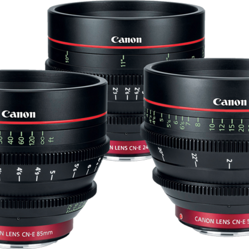 Canon CN-E prime set 24, 50, 85 mm (canon mount)