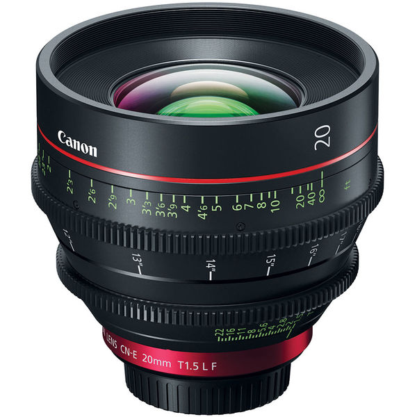 Canon CN-E 20mm T1.5 EF mount