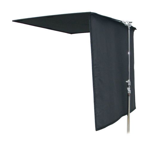 Black Floppy Flag (120 x 120 cm) - Top Hinge