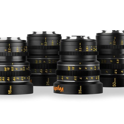 Veydra Mini prime set 16, 25, 35, 50 mm (MFT mount)